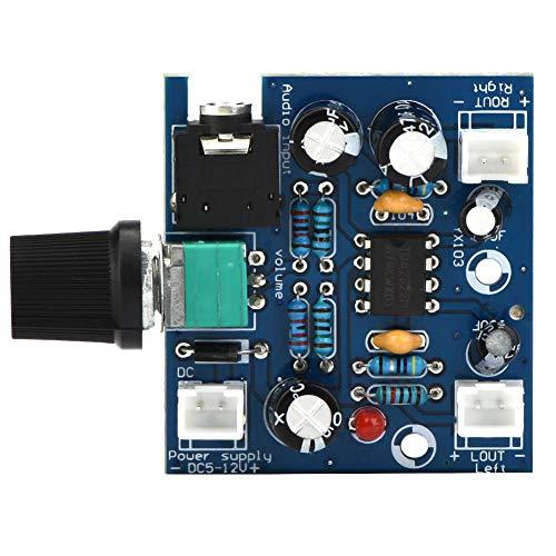 Liukouu TDA2822 Single Power Supply DC5-12V Zweikanal-Audio-Modul mit einstellbarer Lautstärke Single-channel-modul Video