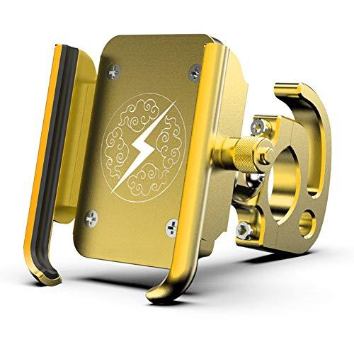 SHKY Universal-Fahrradhalter aus Aluminiumlegierung, passend für die meisten Lenker, 360 Rotation für iPhone Samsung und andere Smartphones,Gold