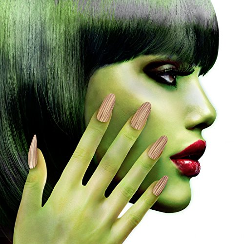 Selbstklebende Kunstnägel Hexe Hexen Nägel zum Aufkleben Kunstfingernägel Halloween Falsche Nägel Vampirin Monster Faschingsnägel Künstliche Fingernägel Zombie Look