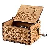 """Meiion Reine Hand Klassische Star Wars und """"Game of Thrones Classic DIY"""" Spieluhren, Holz Spieluhren Kreative Holz Hand Beste Geschenke (Beauty and Beast)"""