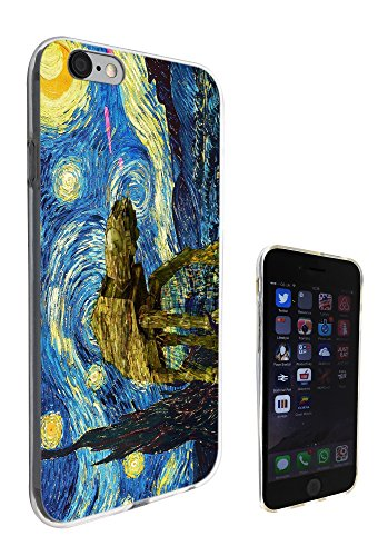 902 - Vincent Van Gogh Nuit étoilée Robot Star Wars iPhone 5/5S Motif Fashion Trend Coque en silicone gel Housse étui coque protection tous les bords