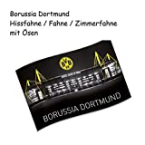 Borussia Dortmund Hissfahne / Fahne / Flagge / Flag groß mit Ösen 140 x 90 cm BVB 09 Signal Iduna...