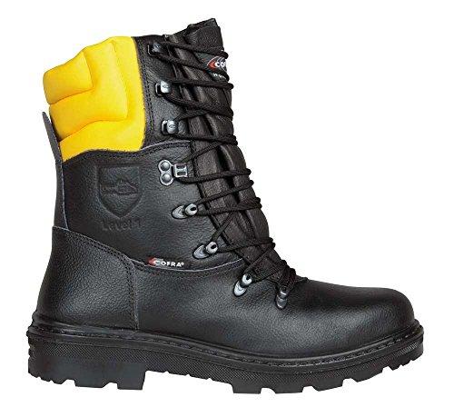 COFRA Schnittschutzstiefel/Forstarbeiterstiefel Woodsman (40, schwarz)