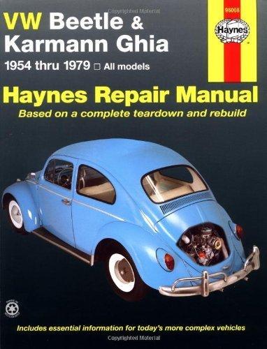 VW Beetle & Karmann Ghia 1954 through 1979 All Models (Haynes Repair Manual) by Ken Freund, Mike Stubblefield, John H. Haynes (1991) Paperback