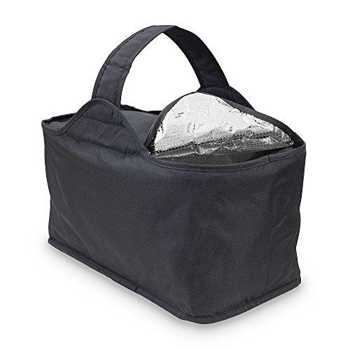 achilles Kühlkorb Soffy, Einkaufskorb mit Kühlfunktion, Flach Faltbarer Korb, schwarz, 46 cm x 24 cm x 22 cm