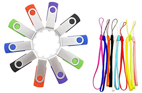 FEBNISCTE 10 pezzi Chiavetta USB 2.0 da 1GB Multicolorato (Rosso,