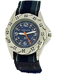 Kahuna Boys Analogue Blue Dial 5ATM Water Resistant Blue Easy Fasten Strap Watch