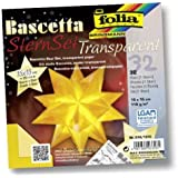 Faltblätter Bascetta Stern Transparent gelb, 15x15 [Misc.]