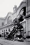 empireposter 728630 Anonym - Gare Montparnasse - Train Poster Lokomotive Dampflok Unfall Accident, Papier, Bunt, 91.5 x 61 x 0.14 cm