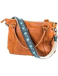 Correa para bolso de recambio azul – Correa de bolsos bordada de tejido jacquard – Asa para bolso o bandolera de estilo guitarra – Correa ajustable para bolsos y carteras