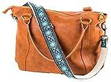 Blau Vintage Handtasche Geldbörse Gurt - Jacquard gewebt Gitarrengurt Stil bestickt Umhängetasche...