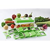 DarkPyro's 12 In 1 Fruit & Vegetable Graters, Slicer, Chipser, Dicer, Cutter Chopper Upgraded Deluxe Model With Unbreakable Poly Carbonate Body And Heavy Stainless Steel Blades