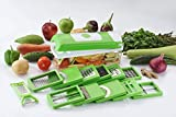 #5: DarkPyro's 12 in 1 Fruit & Vegetable Graters, Slicer, Chipser, Dicer, Cutter Chopper Upgraded Deluxe Model With Unbreakable Poly Carbonate body And Heavy Stainless Steel Blades