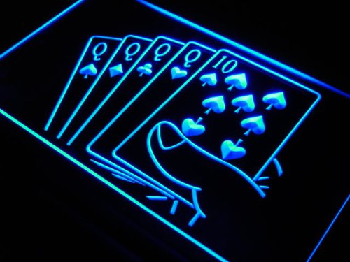Enseigne Lumineuse j347-b Four of a Kind Poker Casino Neon Light Sign