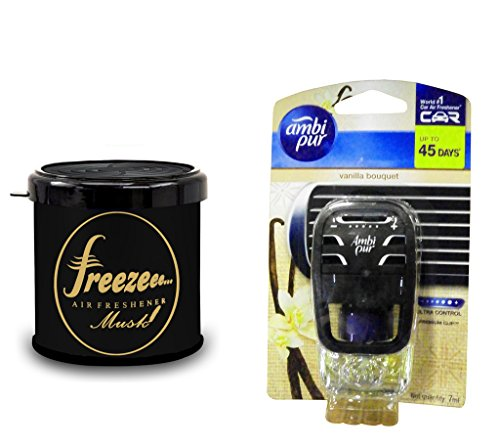 Debonair Combo - Freezee 100gm Premium Car/Home/Office Air Freshener Gel - Musk& Ambi Pur Starter Kit 7. 5 ml - Vanilla Bouquet  available at amazon for Rs.539