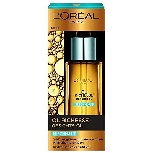 2 x L'Oréal Paris Öl Richesse Gesichts-Öl für Mischhaut /je 30ml/ nicht Fettend/ geeignet für sensible Haut/ Gesichtspflege