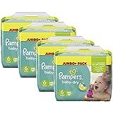 Pampers Baby Dry Größe 6 Extra Large 15+ kg Jumbo Plus Pack, 4er Pack (4 x 64 Windeln)