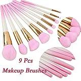 TAOtTAO 9 Stück Farbverlauf Rouge Pinsel Augen Pinsel Rosa Mantel Pinsel Anzug Makeup Tools