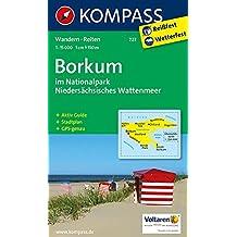 Borkum im Nationalpark Niedersächsisches Wattenmeer: Wanderkarte mit Rad- und Reitwegen und touristischen Hinweisen. GPS genau. 1:15000 (KOMPASS-Wanderkarten, Band 727)
