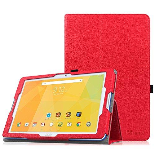 Acer Iconia One 10 B3-A20 Funda - Fintie Folio PU Cuero Case Funda Carcasa con Stand Función para Acer Iconia One 10 B3-A20 10.1 pulgadas (Rojo)