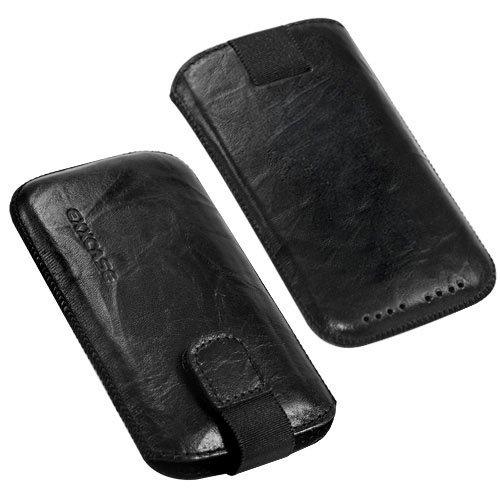 Original EXXCASE ® Ledertasche Wished Schwarz für Samsung I9010 Galaxy S / GT-i91010 Giorgio Armani mit Rückzugfunktion , Handytasche , Case , Hülle , Etui , Slide , Display Schutz , Secure