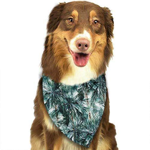 Hipiyoled Sommer-Palmen-Muster-stilvolle Hundebandanas Lätzchen Schals Haustier-Schals ()