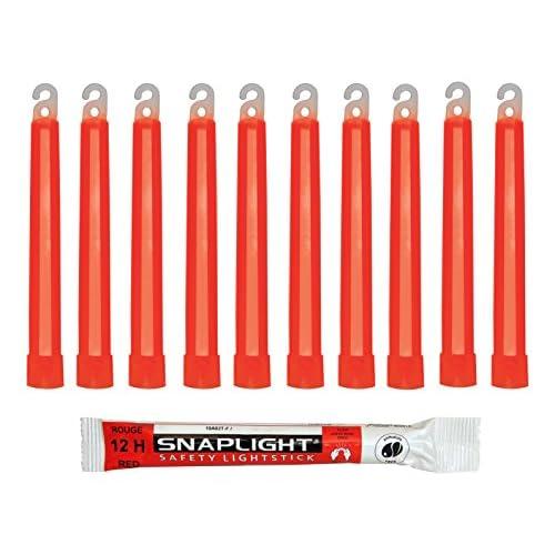 51bJqfdtkML. SS500  - Cyalume Technologies SA8-108078AM Red Snaplight Lightsticks, 15Cm, 12 Hours, Made In France (Pack of 10)