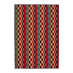 IKEA Helsinge - Tapis, poil ras, multicolore - 160x230 cm