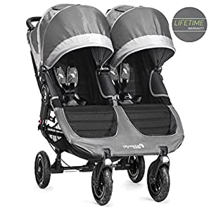 Baby Jogger City Mini GT Stroller - Double, Steel Grey HZC Suitable for baby strollers from birth to 25 kg, made of high-quality aluminum alloy, each baby stroller is pressure tested to provide safety for every baby. Multi-position Reversible Seat: Carrycot for newborn to 6 months can simply convert to seat for toddlers. Easily switch from the carrycot to toddler seat once your baby is 6 months old or can sit unaided,making it an ideal stroller for both infant and toddler. Reversible seat design allows baby to face you or face the world 10