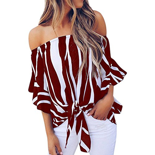 MYMYG 2018 Damen Mode Sommer Herbst Frauen Gestreiften Casual Top T Shirt Damen Lose Langarm Top...