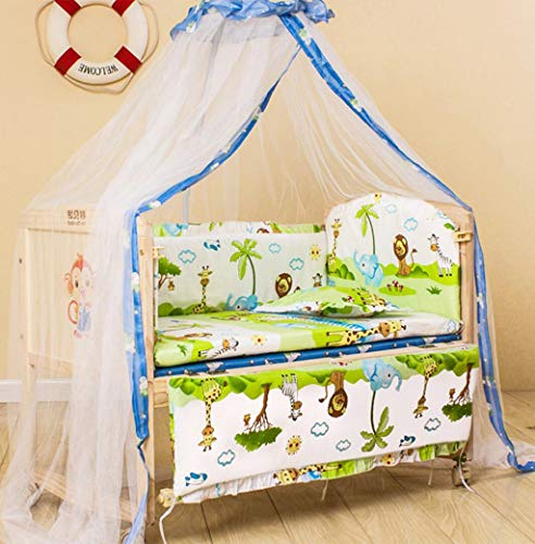 DEBAIJIA Bebé infantil Mosquitera Poliéster Cama Cuna Canopy Recién nacido Niño Multifuncional Lifting Bracket Mosquito Codificado Hilo Red Cúpula Cómodo Respirable Durable para interiores Aire libre