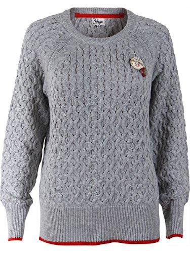 Khujo Damen Strickpullover grey-melange