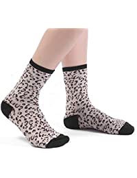 FOANA - Calcetines de algodón con estampado de leopardo, color neutro