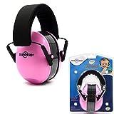 Toennesen Baby-Ohrenschützer Gehörschutz - Verstellbare Stirnband Ohrenschützer für Kinder Rosa