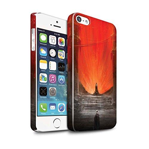 Offiziell Chris Cold Hülle / Glanz Snap-On Case für Apple iPhone SE / Pack 10pcs Muster / Dunkle Kunst Dämon Kollektion Hohe Königin