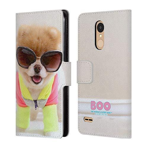 Head Case Designs Offizielle Boo-The World's Cutest Dog Neon Sonnenbrillen Brieftasche Handyhülle aus Leder für LG K8 / K9 (2018)