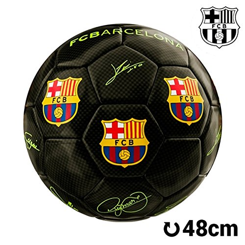 Balón de Fútbol Mediano Negro F.C. Barcelona a764a49734ec9