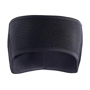 TAGVO Fleece Ohrwärmer Stirnband, Leichte, warme Full Ear Ohrenschützer Wintersport Stirnbänder Laufschweißbänder für Erwachsene Männer Frauen