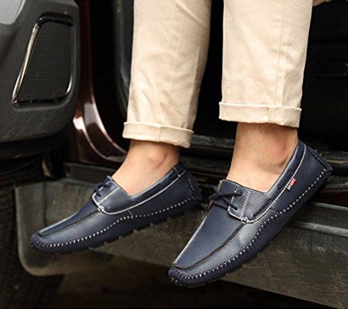 Espadrille homme mocassin conduit voiture nubuck basses chaussure bateau léger chukka shoes bleu foncé lacet