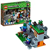 LEGO 21141 Minecraft The Zombie Cave Adventures Building Set with Steve, Zombie and Baby Zombie Mini Figures, Build and Play Toy for Kids