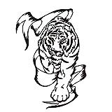 Jixiaosheng Günstige Pvc Abnehmbare Tribal Tiger Großhandel Wandaufkleber FürKinderzimmerTier Wohnkultur Für Wand In Der Nähe Der TürVerschiffen43 * 61 Cm