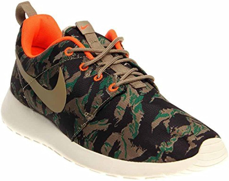 Nike Rosherun Print Men Sneakers Medium Olive/Sea Weed/Gorge Green/Bamboo 655206 203 (SIZE: 13)