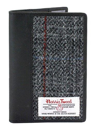 Harris Tweed und Leder Passhalter Boxed (Grau)