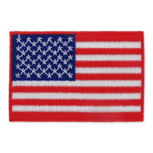 Stemma termoadesivo Bandiera Stati Uniti 65x44 mm