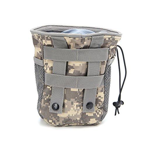 Jiamins Outdoor Utility Pouch Tasche Airsoft Militär Molle Gürtel Taktische Dump Drop Tasche (ACU Farbe)