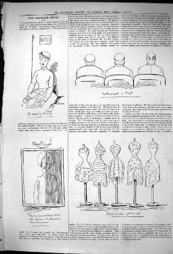 old-original-antique-victorian-print-1881-captious-citic-theatre-sleeping-beauty-dresses-exhibition-