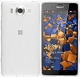 mumbi Schutzhülle für Microsoft Lumia 950 Hülle transparent weiss