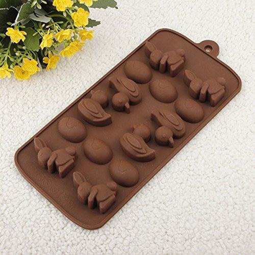 easyshop Coniglio Anatra Uovo Torta di cioccolato Pudding Jelly Mold