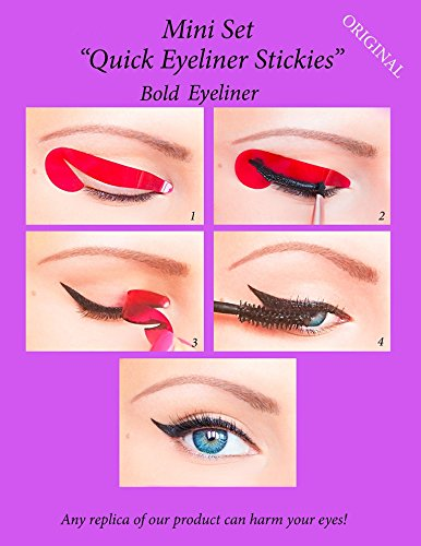 ORIGINAL Quick Eyeliner Stickies Stencils Trucco Perfetto Ochcio 24 pcs