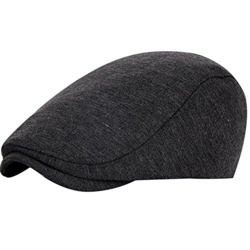 Leisial Sombreros Gorras Boinas con Algodón Ocio Retro Hat Cap Sombrero de Sol Deporte al Aire Libre Primavera Verano para Unisex Hombre Mujer Gris oscuro